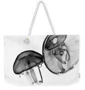 Moon Jellyfish - Black And White Weekender Tote Bag