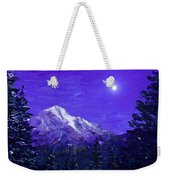 Moon Mountain Weekender Tote Bag