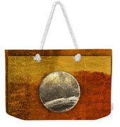 Moon On Gold Weekender Tote Bag
