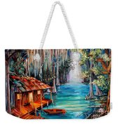 Moon On The Bayou Weekender Tote Bag
