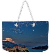 Moon Over Dubrovnik's Walls Weekender Tote Bag