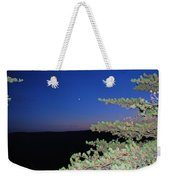 Moon Over Mountain Weekender Tote Bag