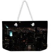 Moon Over New York City Weekender Tote Bag