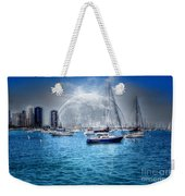 Moon Over The City Harbor Weekender Tote Bag