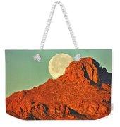 Moon Over Tucson Mountains Weekender Tote Bag