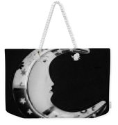 Moon Phase In Black And White Weekender Tote Bag
