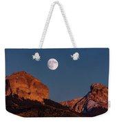 Moon Rise Over Cimarron Mountain Range Weekender Tote Bag