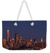 Moon Rise Over Manhattan Weekender Tote Bag