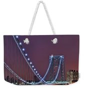 Moon Rise Over The George Washington Bridge Weekender Tote Bag