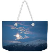 Moon Rise Over The Presidential Range Weekender Tote Bag