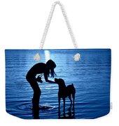 Moon Shadow Weekender Tote Bag by Laura Fasulo