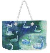 Moon Swans Weekender Tote Bag
