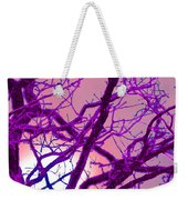 Moon Tree Pink Weekender Tote Bag by First Star Art