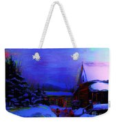 Moonglow On Powder Weekender Tote Bag
