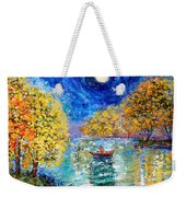 Moonlight Fishing Weekender Tote Bag