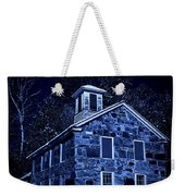 Moonlight On The Old Stone Building  Weekender Tote Bag by Edward Fielding