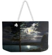 Moonlight On Yellowstone Lake Weekender Tote Bag