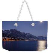 Moonlight Over A Lake Weekender Tote Bag