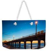 Moonlight Pier Weekender Tote Bag