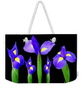 Moonlight Purple Flower Selection Romantic Lovely Valentine's Day Print Weekender Tote Bag