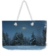 Moonlight Snow Weekender Tote Bag
