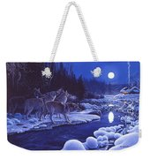 Moonlight Visitors Weekender Tote Bag