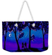 Moonlight Walk Weekender Tote Bag