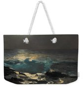 Moonlight. Wood Island Light Weekender Tote Bag