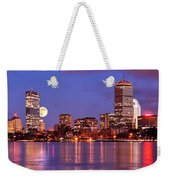 Moonlit Boston On The Charles Weekender Tote Bag