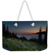 Moonlit Rainier Meadows Sunset Weekender Tote Bag