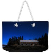 Moonlit Starscape At The Old Smokehouse Weekender Tote Bag