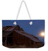 Moonrise Over Decrepit Barn Weekender Tote Bag