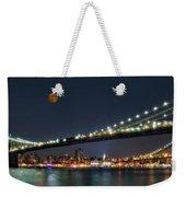 Moonrise Over Manhattan Weekender Tote Bag