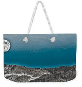 Moonrise Over The Mountain Weekender Tote Bag