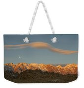 Moonset Over Mt Whitney Img 0637 Weekender Tote Bag