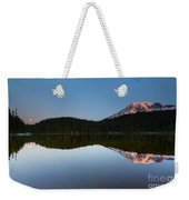 Moonset Over Rainier Weekender Tote Bag