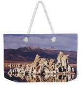 Moonset Over Tufa Weekender Tote Bag