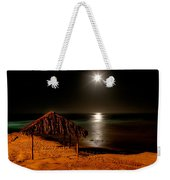 Moonset Over Windnsea Weekender Tote Bag
