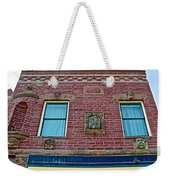 Moore Block-1896 With Gargoyle-like Features In Pipestone-minnesota  Weekender Tote Bag