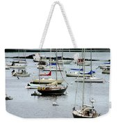 Moored At Kittery Point Maine Weekender Tote Bag