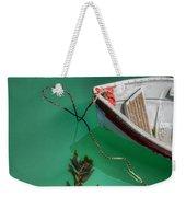 Moored Boat And Kelp Weekender Tote Bag