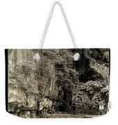 Moored Boat By The River In Tam Coc Weekender Tote Bag