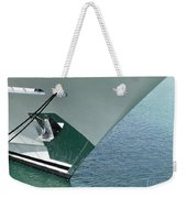 Moored Ships Bow With Retracted Anchor Abstract Weekender Tote Bag