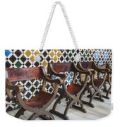 Moorish Tile Work At The Alhambra Weekender Tote Bag