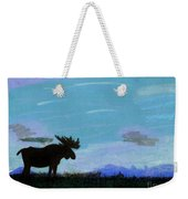 Moose - At - Sunset Weekender Tote Bag