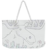 Moose Cartoon Weekender Tote Bag