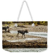 Moose Crossing River No. 1 - Grand Tetons Weekender Tote Bag