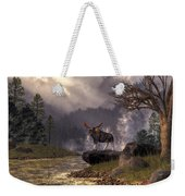 Moose In The Adirondacks Weekender Tote Bag