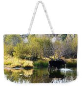 Moose Reflection Weekender Tote Bag