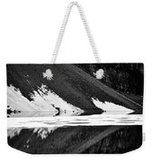 Moraine Lake Abstract - Black And White #2 Weekender Tote Bag